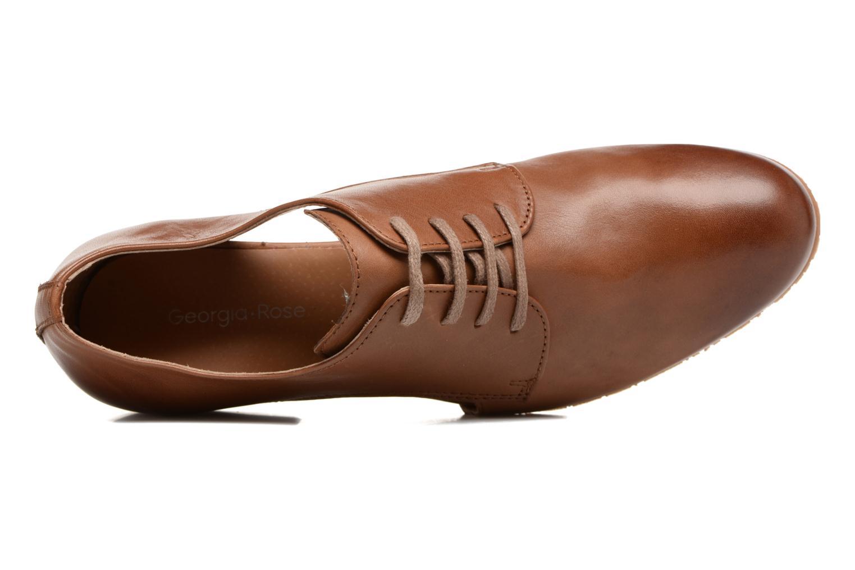 Chaussures à lacets Georgia Rose Celange Marron vue gauche
