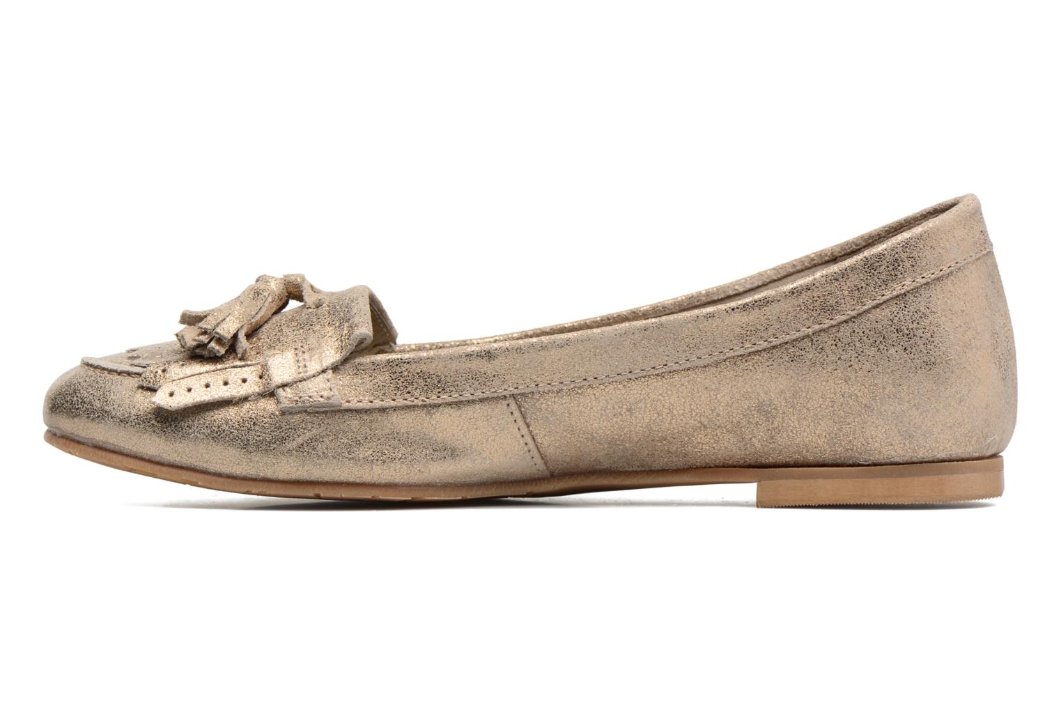 Loafers Georgia Rose Cepom Bronze and Gold front view