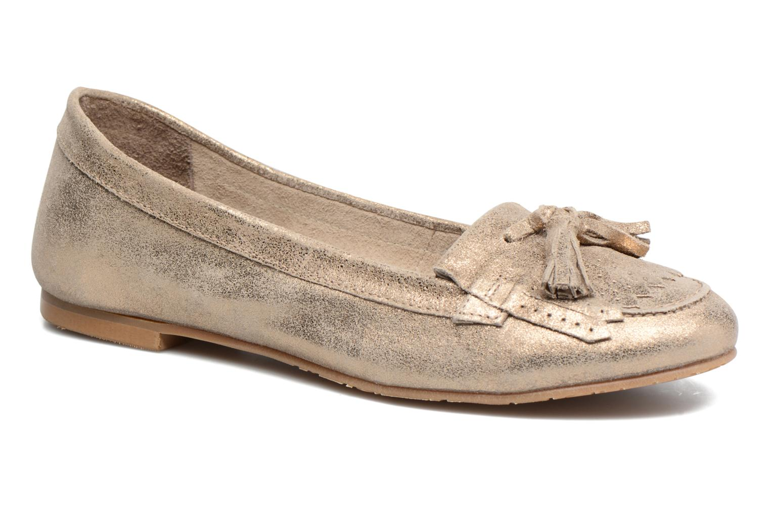 Loafers Georgia Rose Cepom Bronze and Gold detailed view/ Pair view