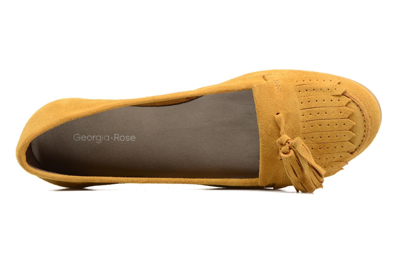 Mocasines Georgia Rose Cepom Amarillo vista lateral izquierda
