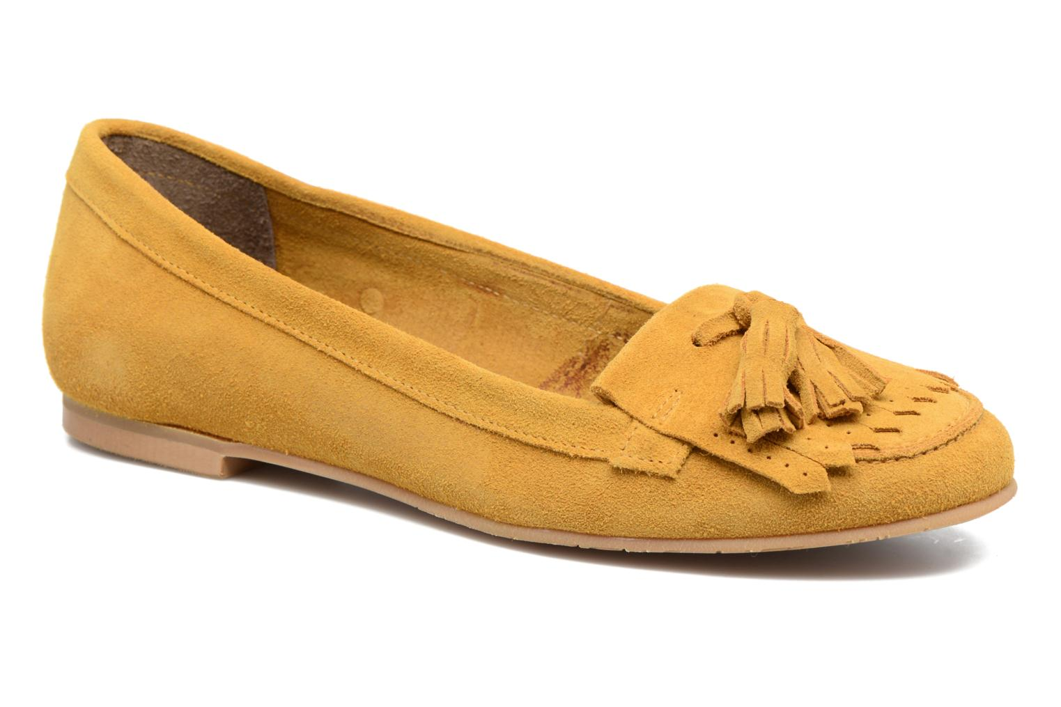 Loafers Georgia Rose Cepom Yellow detailed view/ Pair view