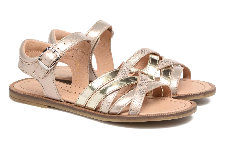 Sandales et nu-pieds Romagnoli Alma Or et bronze vue 3/4