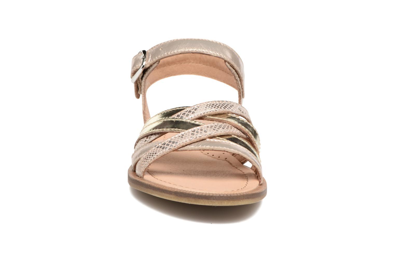 Sandales et nu-pieds Romagnoli Alma Or et bronze vue portées chaussures