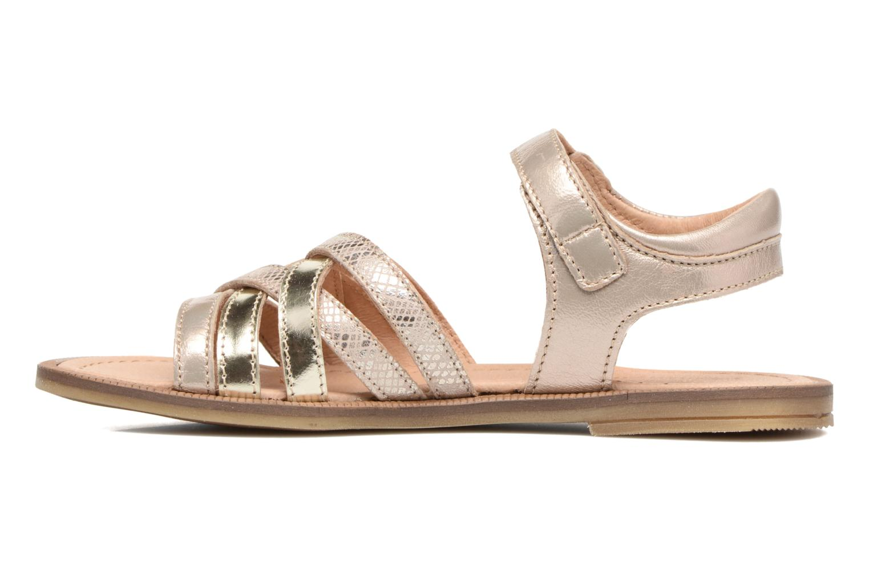 Sandales et nu-pieds Romagnoli Alma Or et bronze vue face
