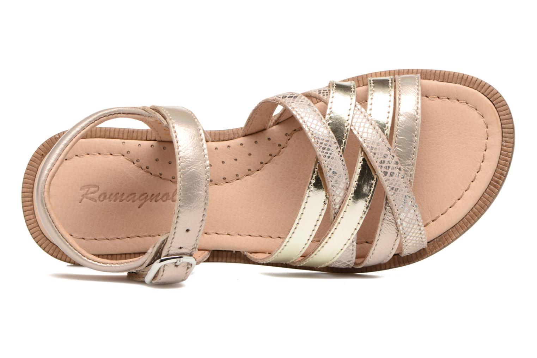 Sandales et nu-pieds Romagnoli Alma Or et bronze vue gauche
