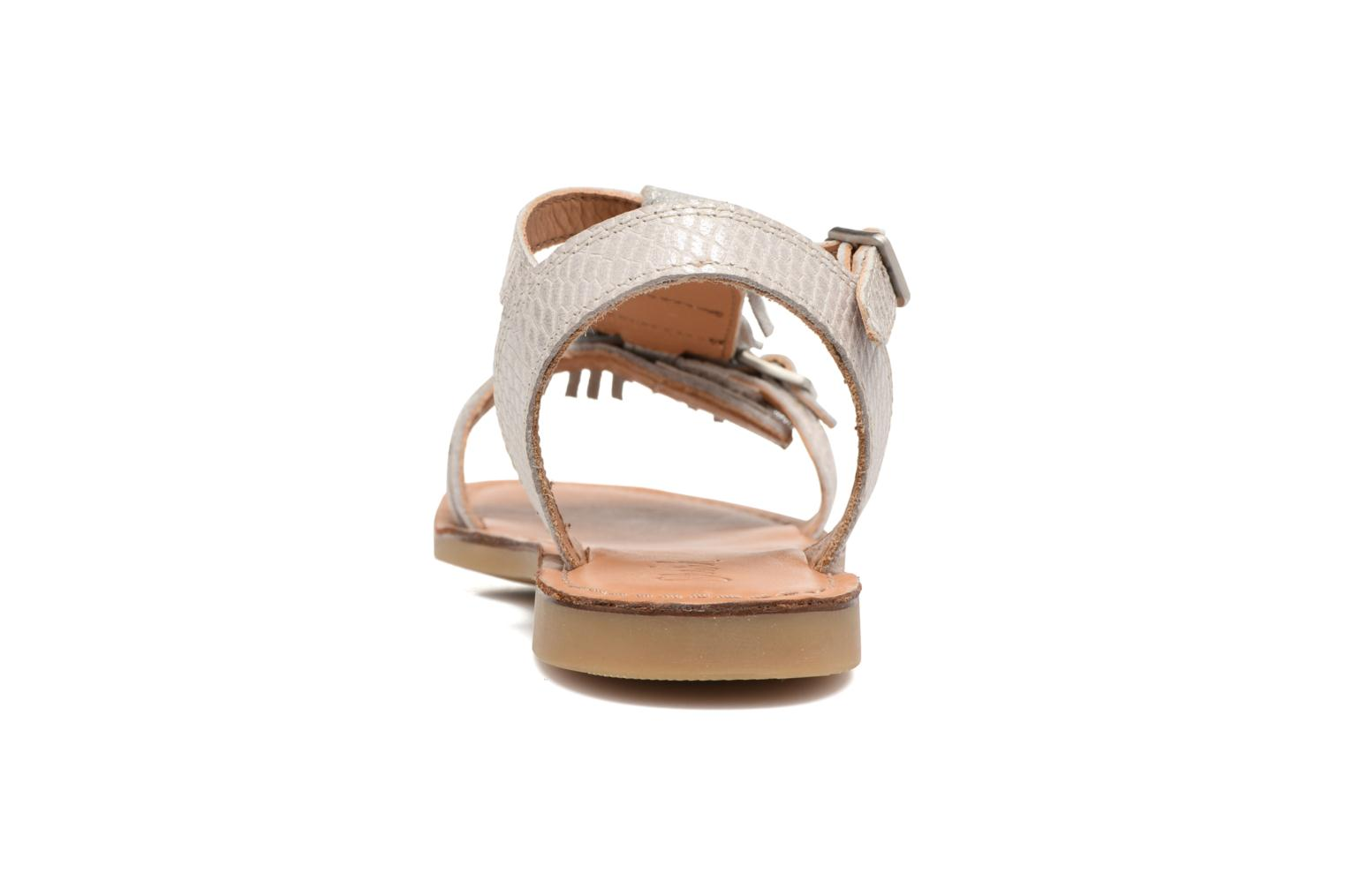 Sandals Shwik Lazar Bi Fringe Silver view from the right