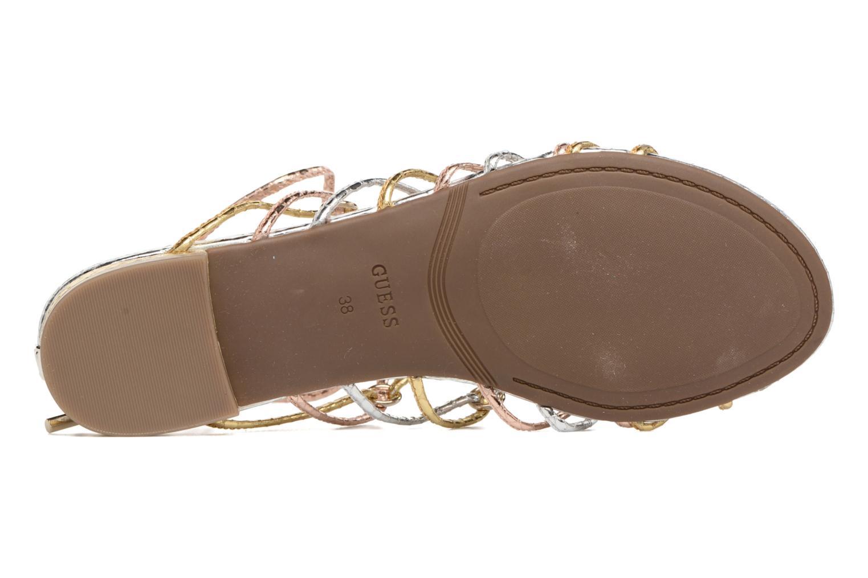Sandales et nu-pieds Guess Racha Argent vue haut