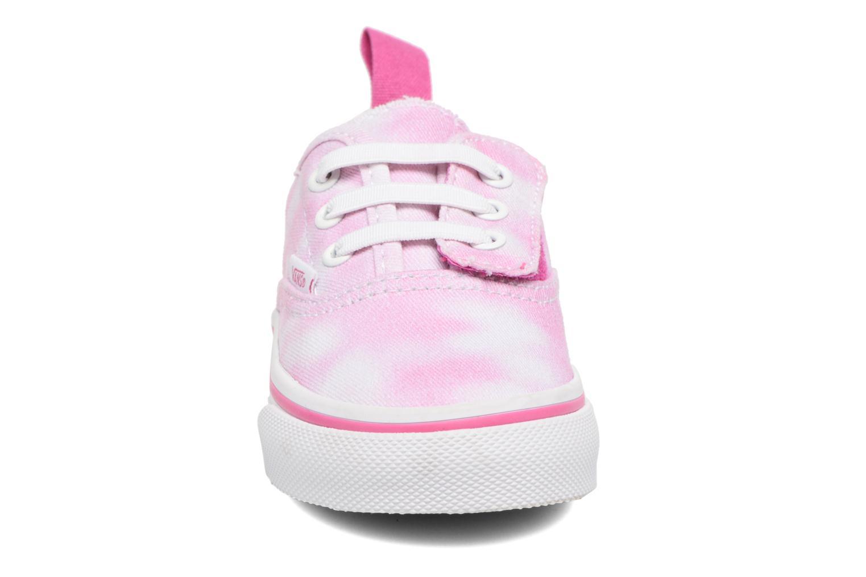 Baskets Vans Authentic V Lace BB Rose vue portées chaussures