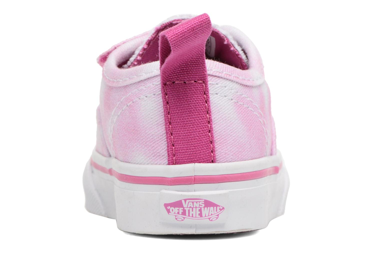 Baskets Vans Authentic V Lace BB Rose vue droite