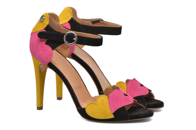 Sandales et nu-pieds Love Moschino Heart Shaped Sandals Multicolore vue 3/4