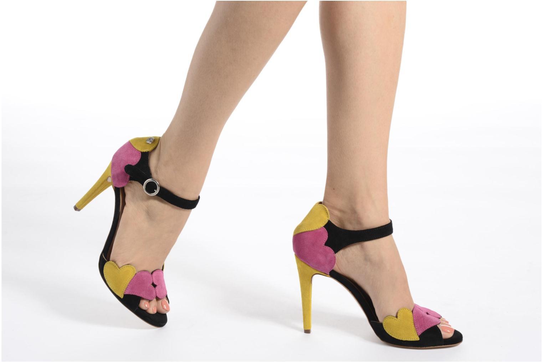 Sandales et nu-pieds Love Moschino Heart Shaped Sandals Multicolore vue bas / vue portée sac