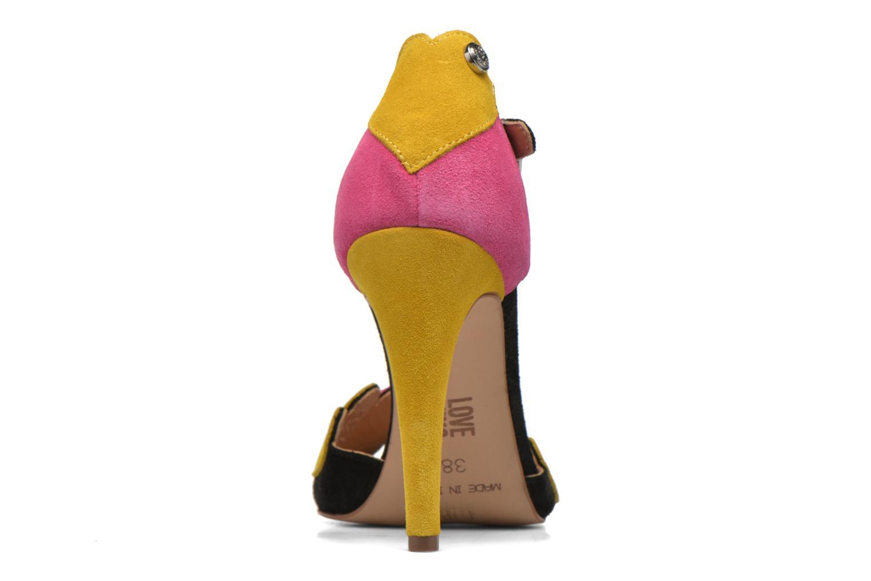 Sandales et nu-pieds Love Moschino Heart Shaped Sandals Multicolore vue droite