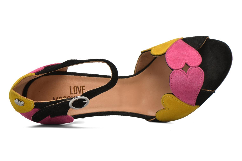 Sandales et nu-pieds Love Moschino Heart Shaped Sandals Multicolore vue gauche