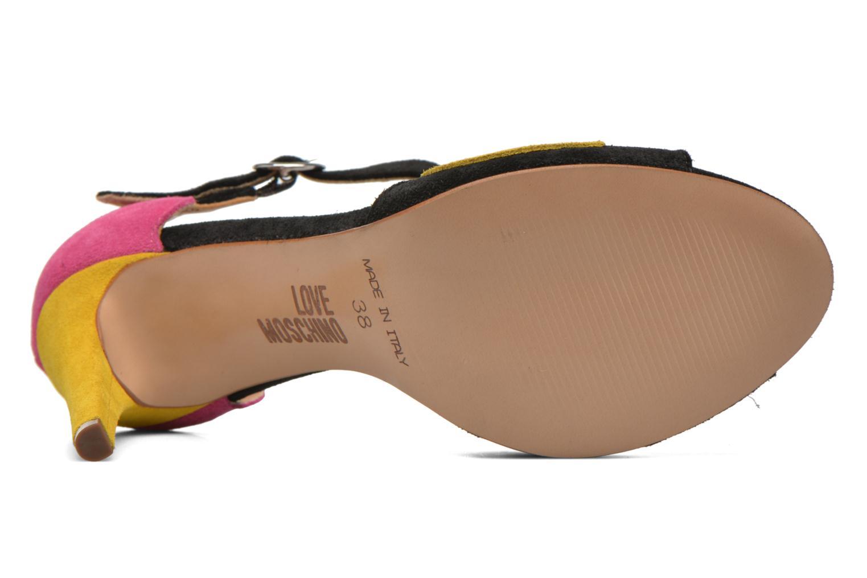 Sandales et nu-pieds Love Moschino Heart Shaped Sandals Multicolore vue haut