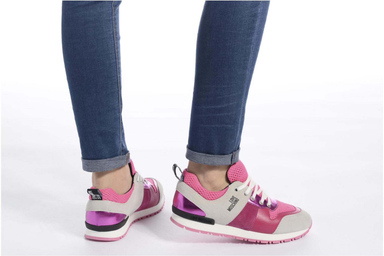Baskets Love Moschino Sneaker Mania2 Rose vue bas / vue portée sac