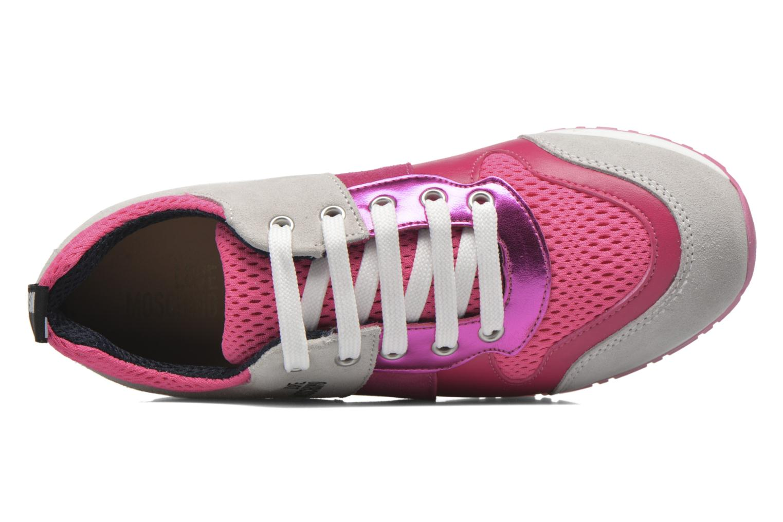 Baskets Love Moschino Sneaker Mania2 Rose vue gauche