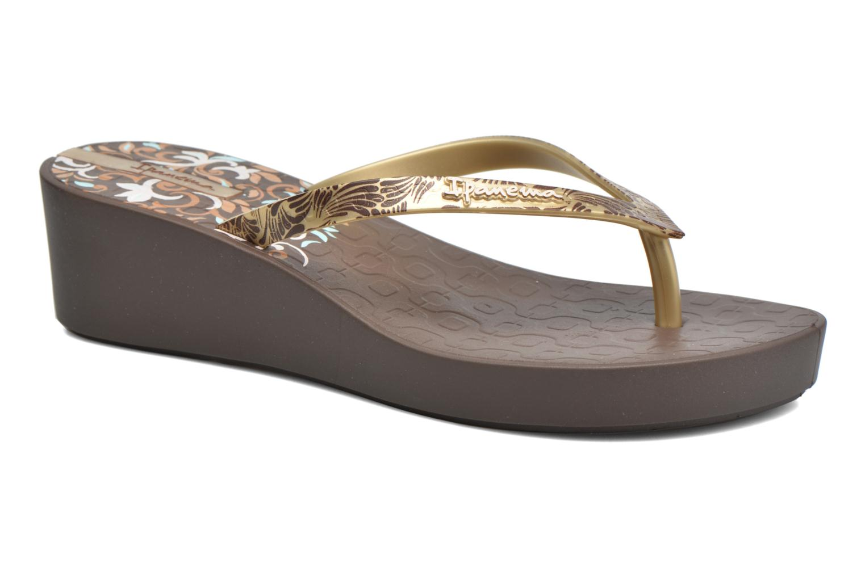 Flip flops Ipanema Art Deco III Brown detailed view/ Pair view