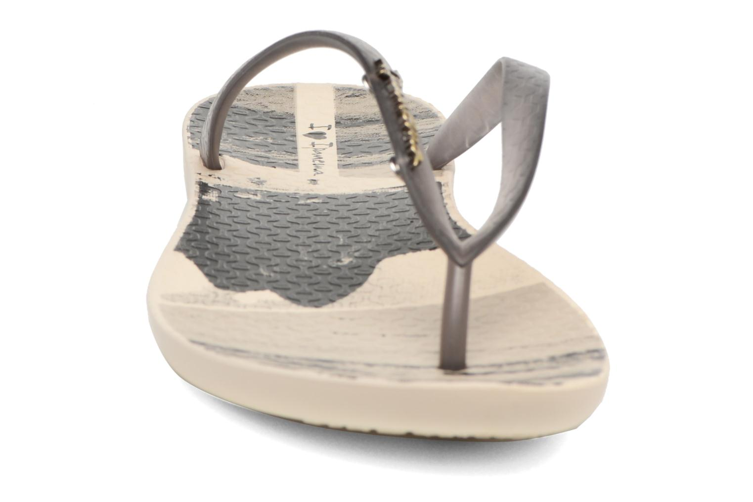 Tongs Ipanema Wave Tropical Beige vue portées chaussures