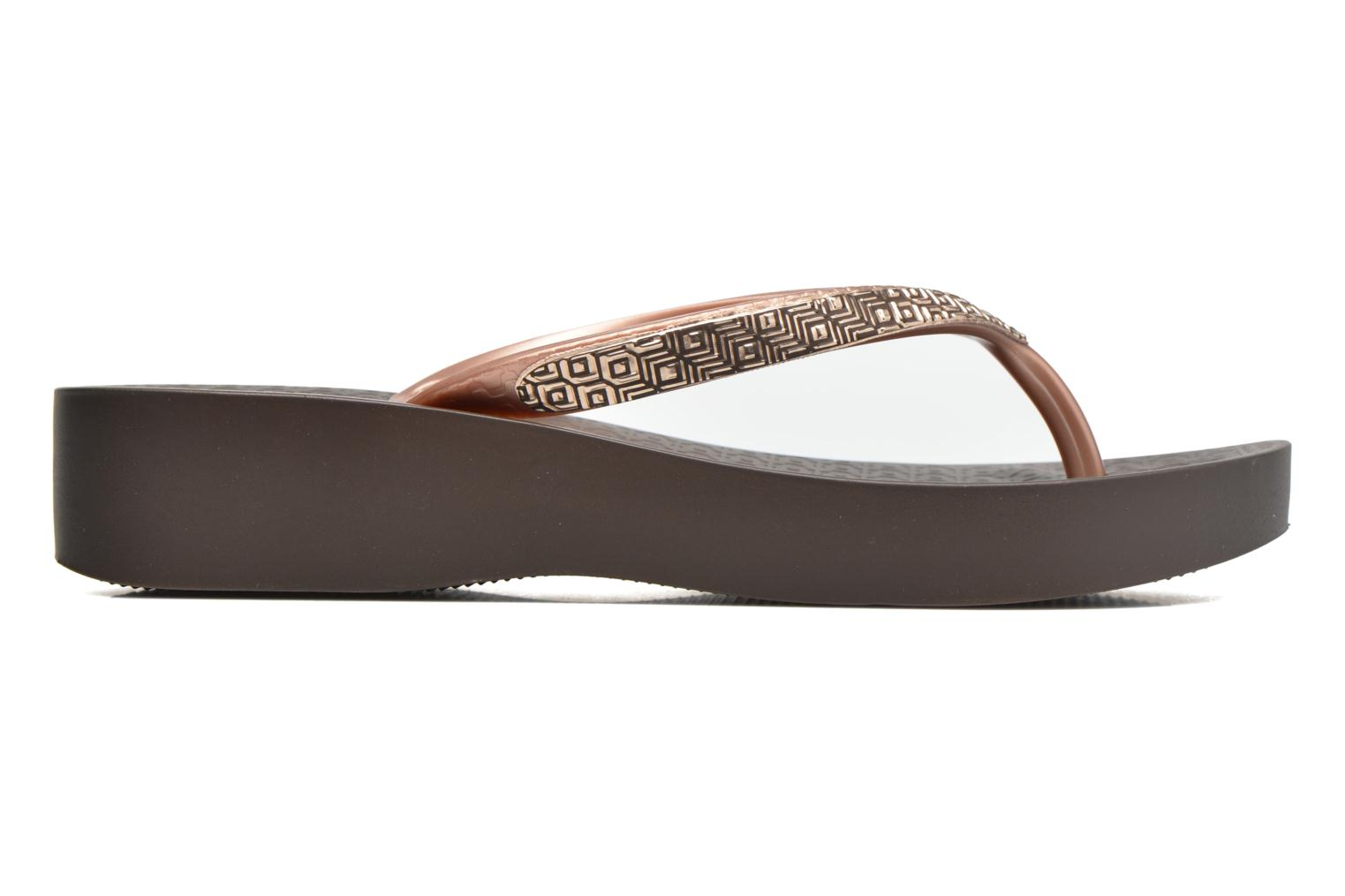 Flip flops Ipanema Mesh Plat II Brown back view