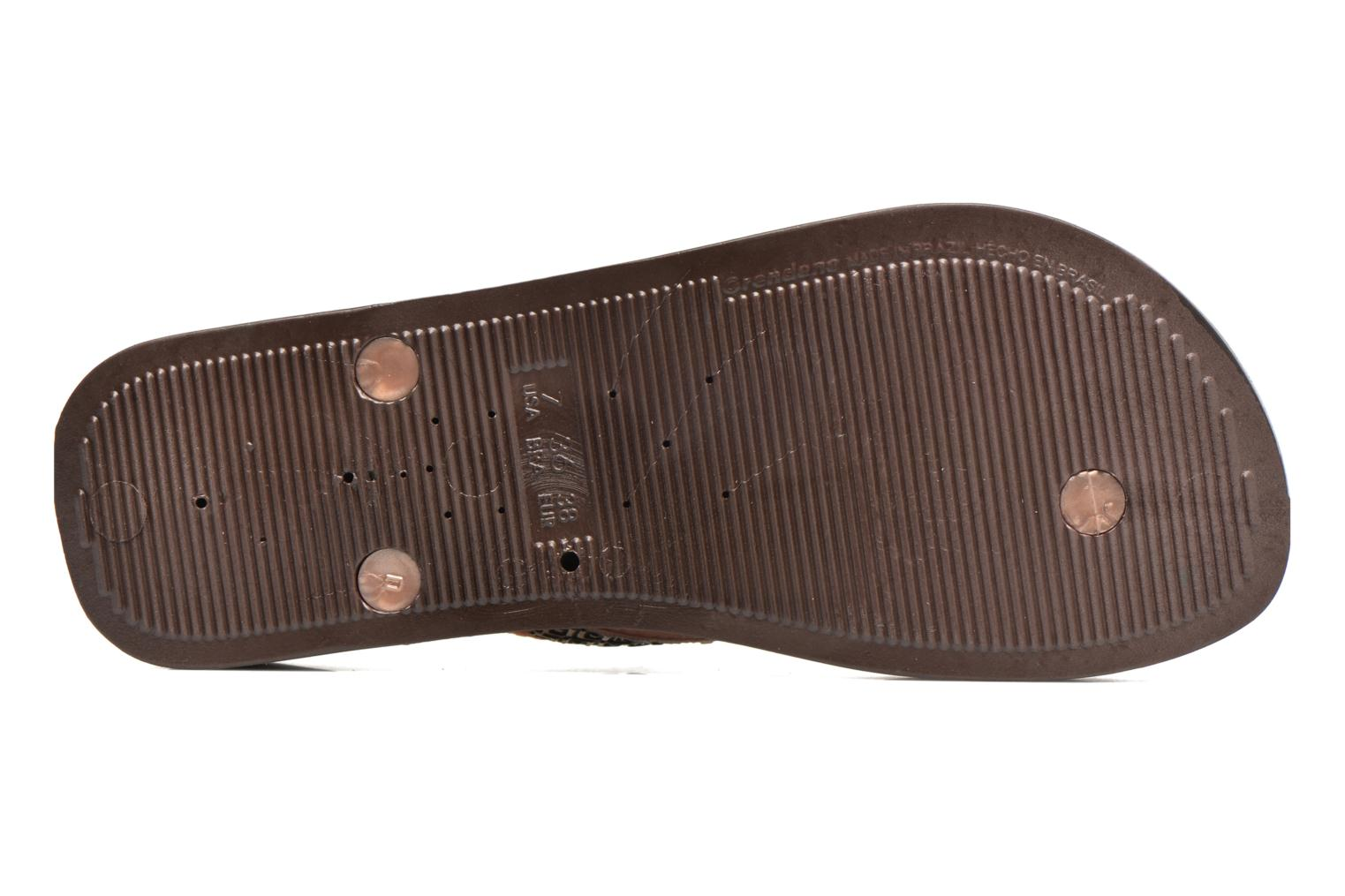 Flip flops Ipanema Mesh Plat II Brown view from above