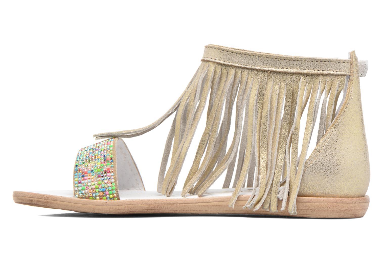 Sandales et nu-pieds Acebo's Nuria Or et bronze vue face