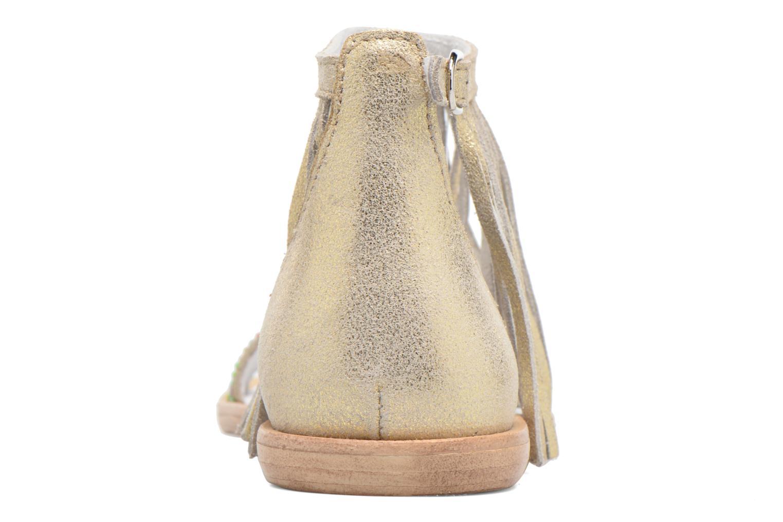 Sandales et nu-pieds Acebo's Nuria Or et bronze vue droite