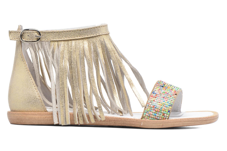 Sandales et nu-pieds Acebo's Nuria Or et bronze vue derrière