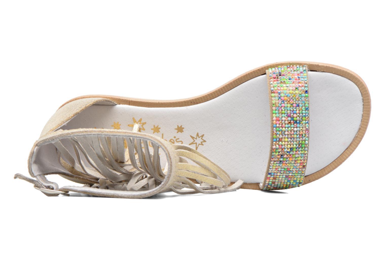 Sandales et nu-pieds Acebo's Nuria Or et bronze vue gauche