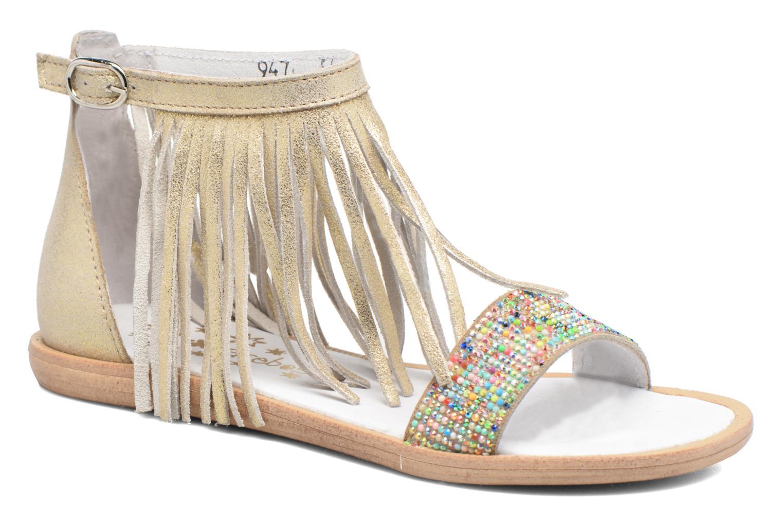 Sandales et nu-pieds Acebo's Nuria Or et bronze vue détail/paire