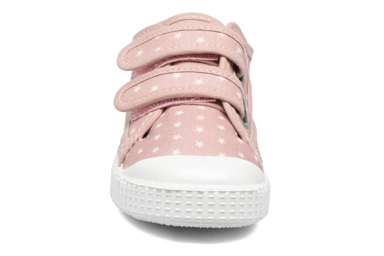 Baskets Victoria Basket Estrellas Velcros Rose vue portées chaussures