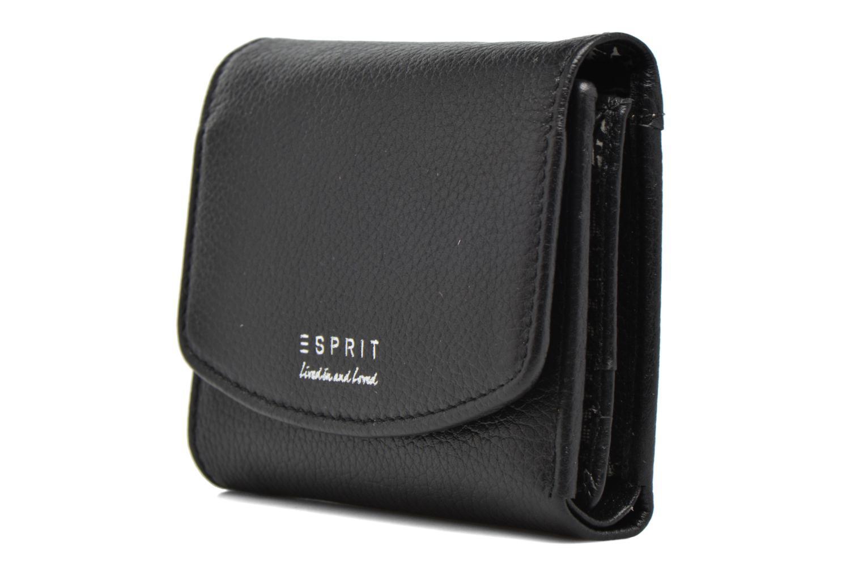 Petite Maroquinerie Esprit Classic leather city wallet Noir vue portées chaussures