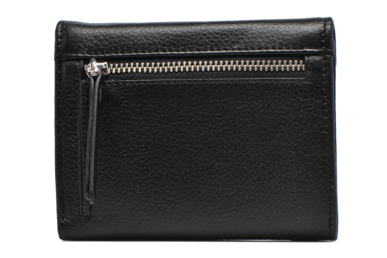 Petite Maroquinerie Esprit Classic leather city wallet Noir vue face