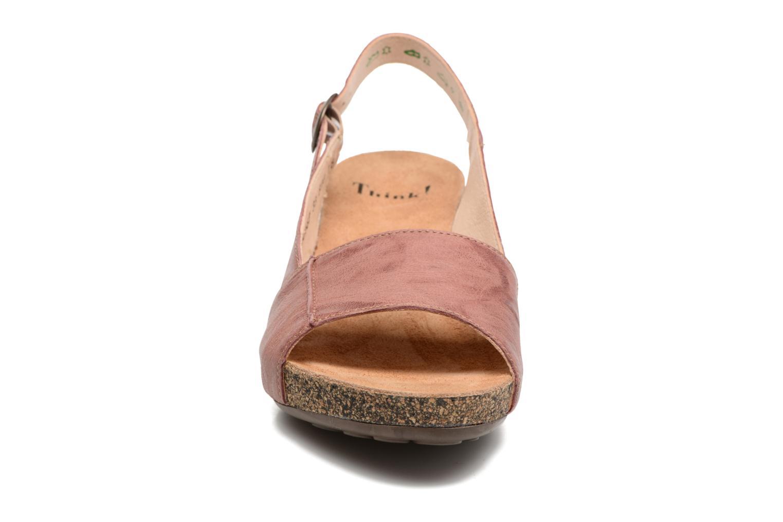 Sandales et nu-pieds Think! Traudi 80567 Rose vue portées chaussures