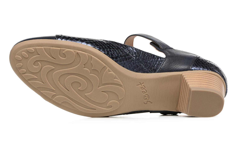 Sandales et nu-pieds Sweet Dibou Bleu vue haut