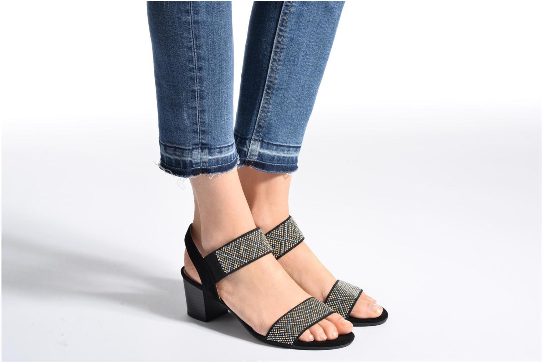 Sandales et nu-pieds Sweet Gold Noir vue bas / vue portée sac
