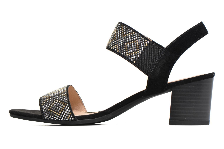 Sandales et nu-pieds Sweet Gold Noir vue face