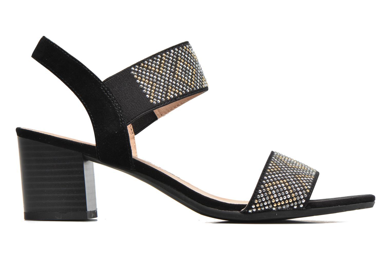 Sandales et nu-pieds Sweet Gold Noir vue derrière