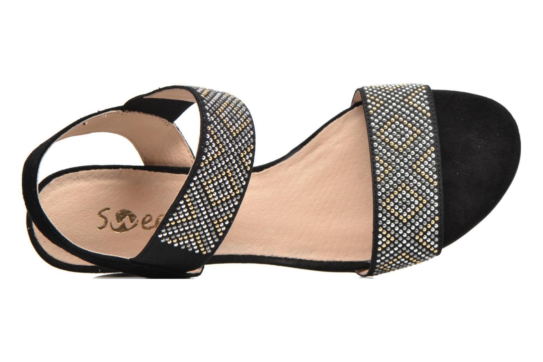 Sandales et nu-pieds Sweet Gold Noir vue gauche
