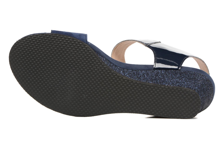 Sandales et nu-pieds Sweet Zuako Bleu vue haut
