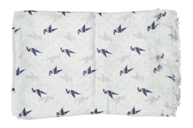 Divers Esprit Print stripes scarf 100x200 Blanc vue portées chaussures