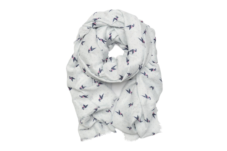 Print stripes scarf 100x200 Pastel Blue