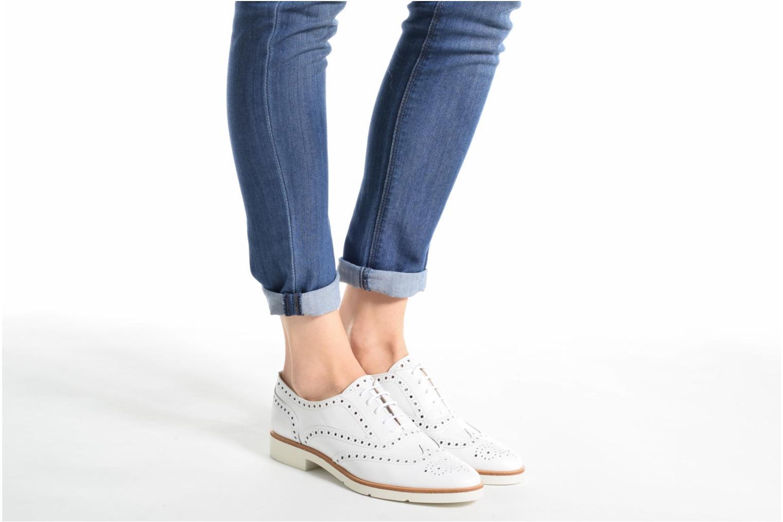 Chaussures à lacets JB MARTIN 1Falba Blanc vue bas / vue portée sac