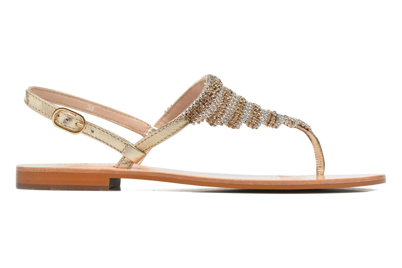 Sandales et nu-pieds JB MARTIN 1Angy Or et bronze vue derrière