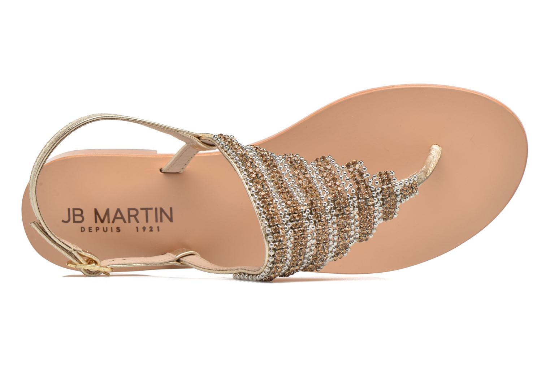 Sandales et nu-pieds JB MARTIN 1Angy Or et bronze vue gauche