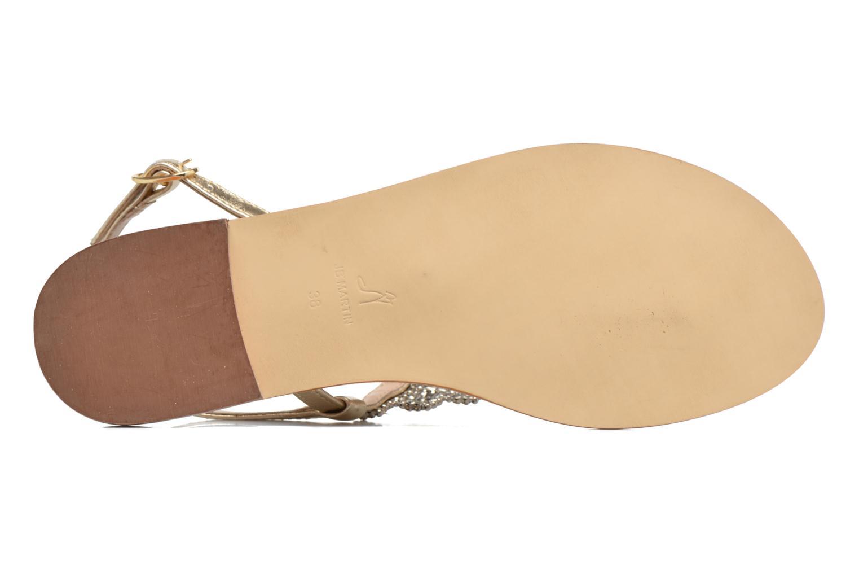 Sandales et nu-pieds JB MARTIN 1Angy Or et bronze vue haut