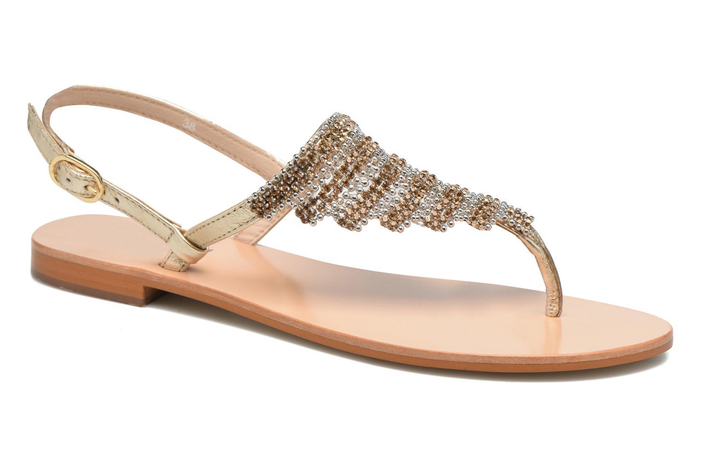 Sandales et nu-pieds JB MARTIN 1Angy Or et bronze vue détail/paire