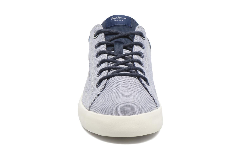 Baskets Pepe jeans North Fabric Bleu vue portées chaussures