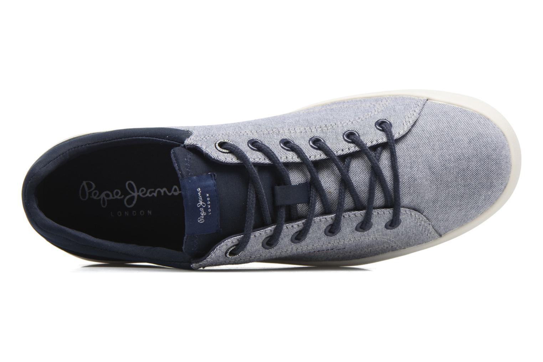 Baskets Pepe jeans North Fabric Bleu vue gauche