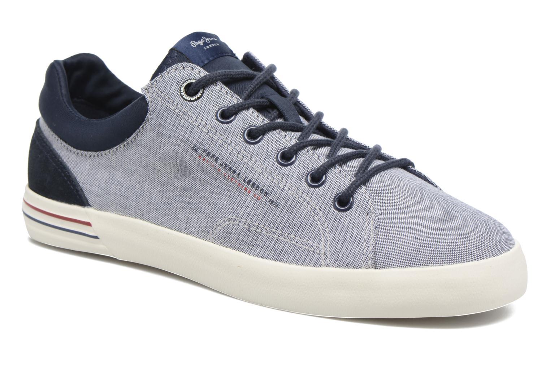 Baskets Pepe jeans North Fabric Bleu vue détail/paire