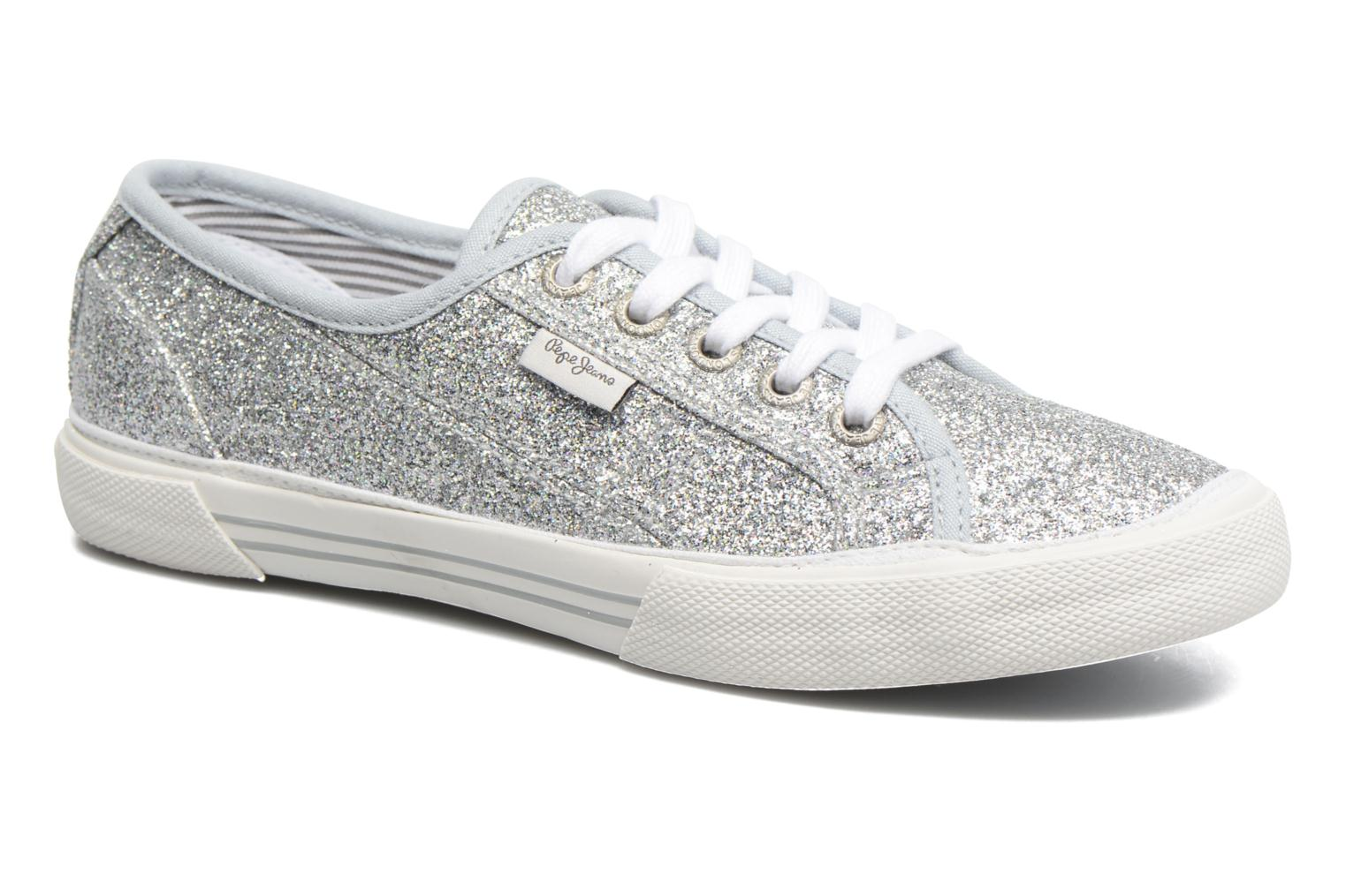 Baskets Pepe jeans Aberlady Flash Gris vue détail/paire